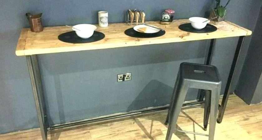 Breakfast Bar Storage Table Shelves Recycled Corner