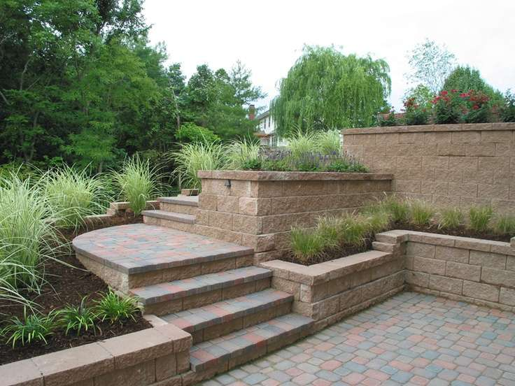 Brick Patio Design Wall Planters Gardening Pinterest