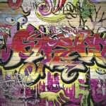 Brick Wall Graffiti Mural