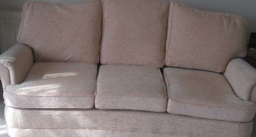 Bridgecraft Sofa Two Armchairs Beautiful Condition