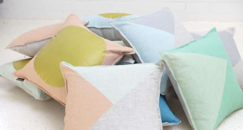 Bright Gold Pastel Cushions Brighten Your Room Interiors