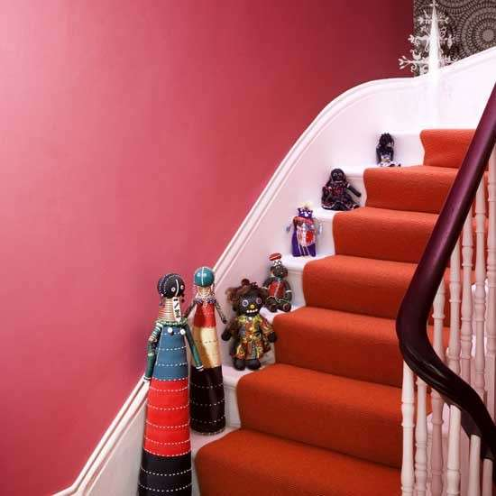 Bright Red Hallway Housetohome