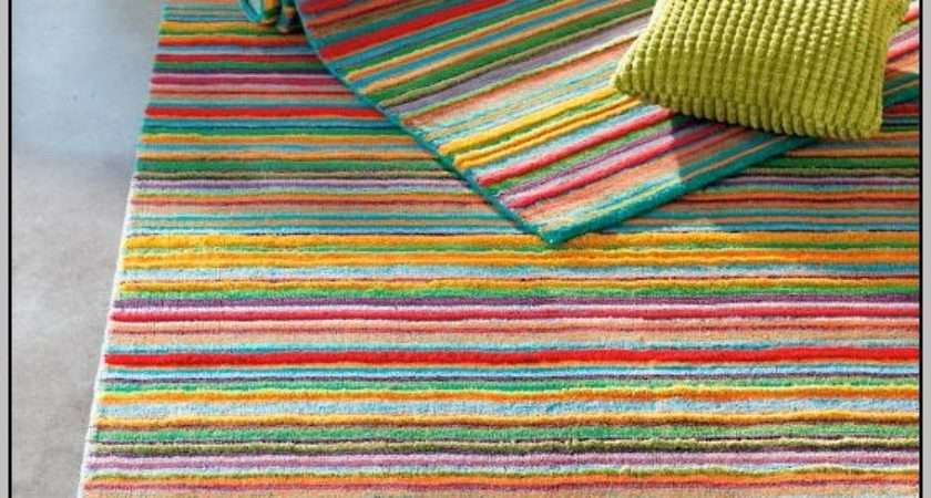 Bright Striped Outdoor Rugs Home Decorating Ideas