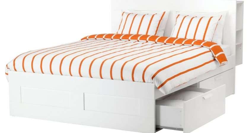 Brimnes Bed Frame Storage Headboard White Lur