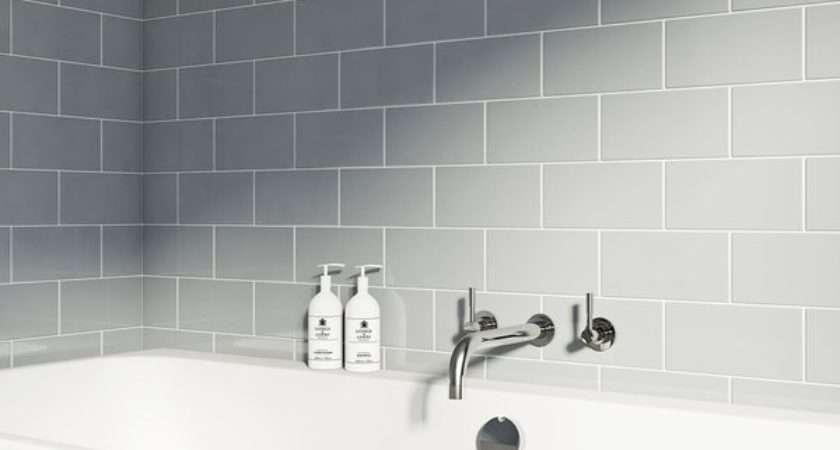 British Ceramic Tile Metro Flat Cloud Grey Gloss