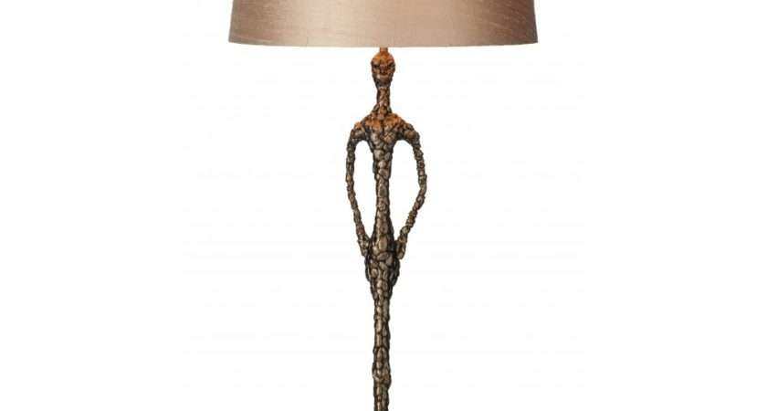 Bronze Sculptured Figure Table Lamp Slate Base