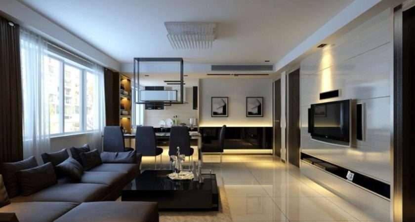 Brown Grey Living Room Silver Walls