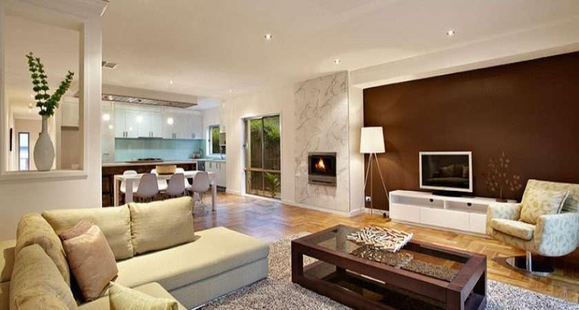 Brown Living Room Idea Real Australian Home Area