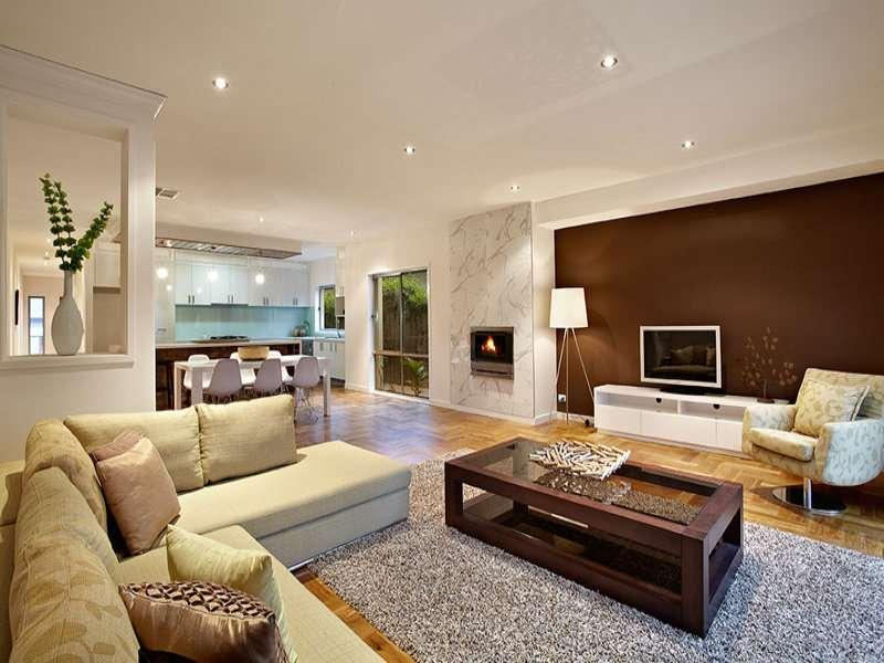 brown living room idea real australian home area - lentine marine