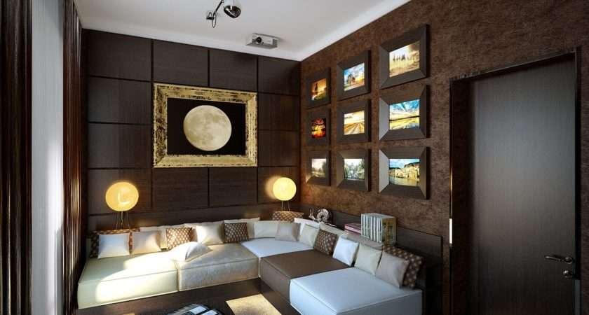Brown Snug Lounge Decor Whote Sofa Cushion Olpos Design