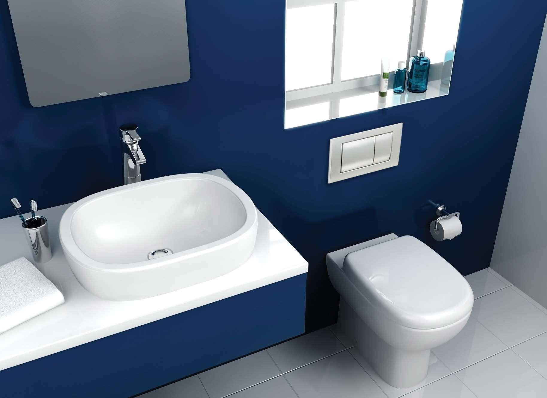 Brownand Blue Bathroom Designs Interiordecodir