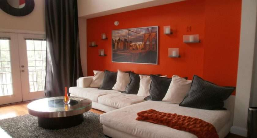 Burnt Orange Walls Living Room