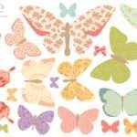 Butterflies Girly Fabric Wall Decals Love Mae Rosenberryrooms