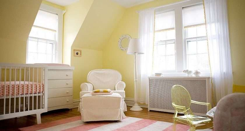 Buttery Yellow Pink Nursery Design Inspiration Kidsomania