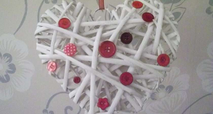 Button Wicker Heart Red Create Make Pinterest