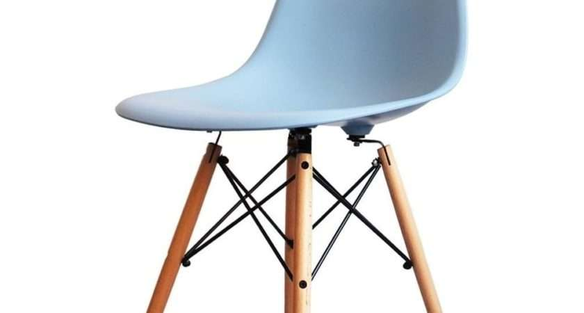 Buy Eames Style Light Blue Plastic Retro Side Chair