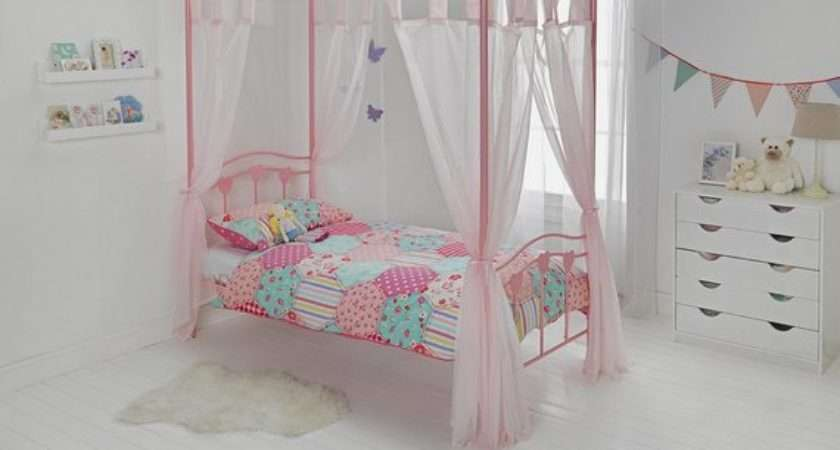 Buy Home Hearts Single Poster Bed Frame Pink Argos