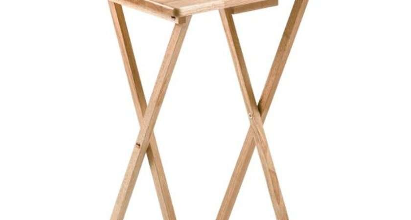 Buy Home Single Folding Tray Table Natural Argos