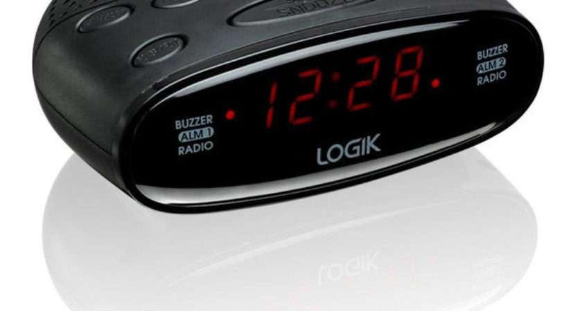 Buy Logik Lcra Analogue Clock Radio Black