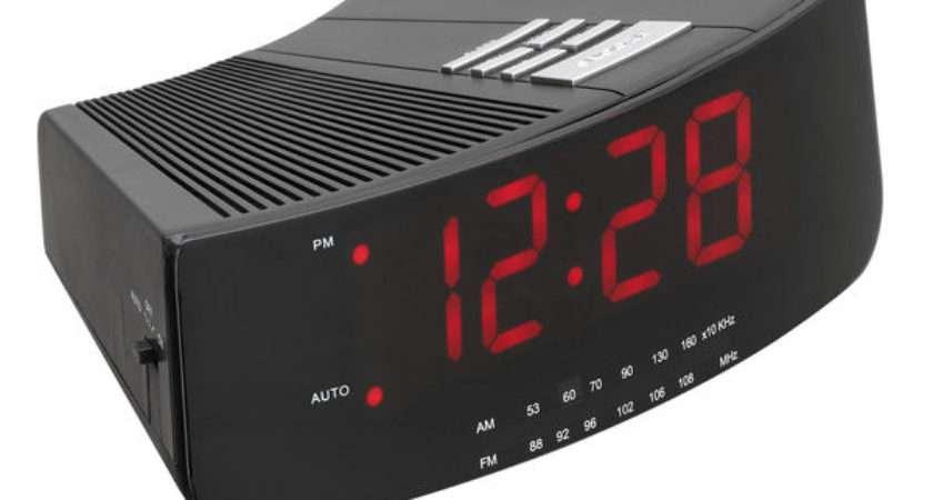 Buy Logik Lcran Analogue Clock Radio Black