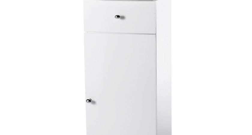 Buy Standing White Capri Bathroom Cabinet Back Bath