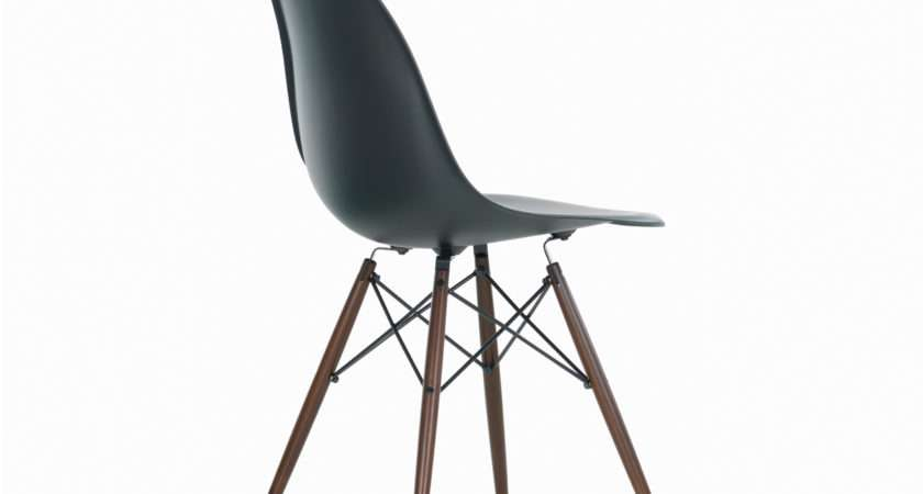 Buy Vitra Dsw Eames Plastic Side Chair Dark Maple Base