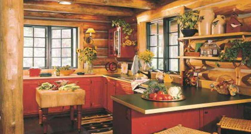 Cabin Kitchens Design Ideas Log Basic