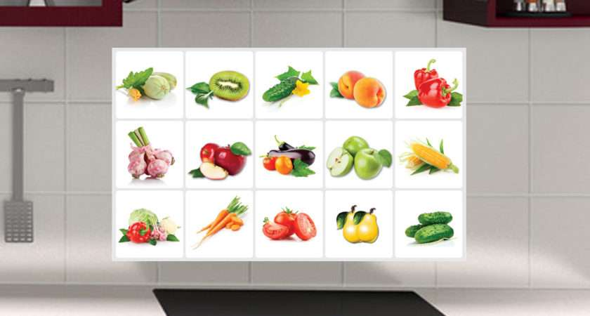 Cabinet Fruit Anti Oil Kitchen Wall Tile Stickers