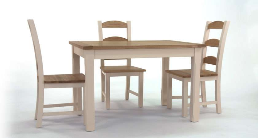 Camden Kitchen Dining Table Three Provencal Chairs