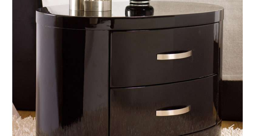 Capri Bedside Table Black Dwell