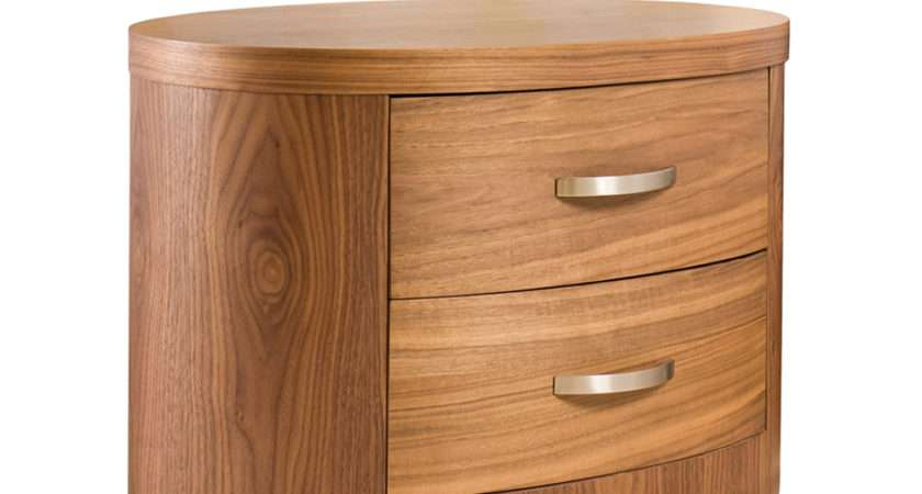 Capri Bedside Table Walnut Dwell