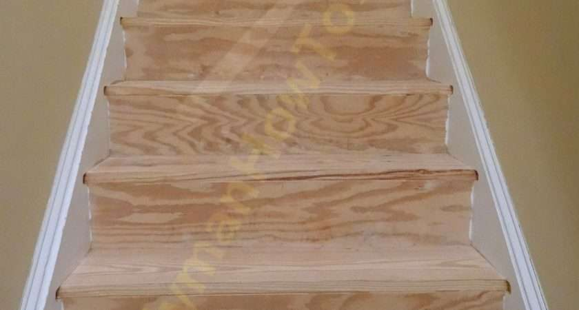 Carpet Wood Stairs Remodel Saw Off Old Stair Nosing