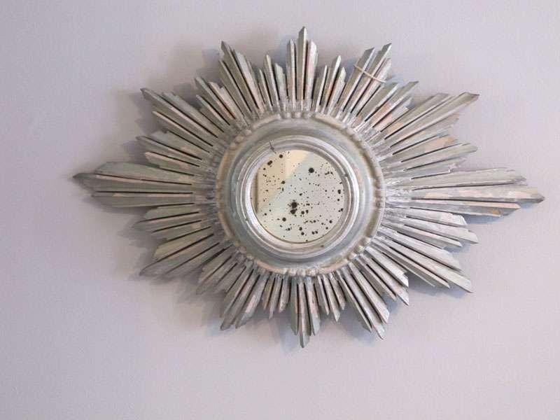 Carved Wood Sunburst Mirror Round Oval Mirrors