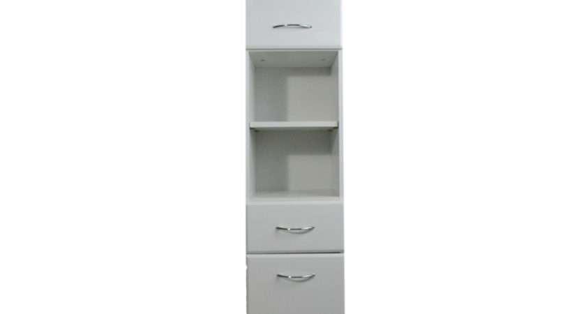 Casa Tall Bathroom Cabinet White Gloss Leekes