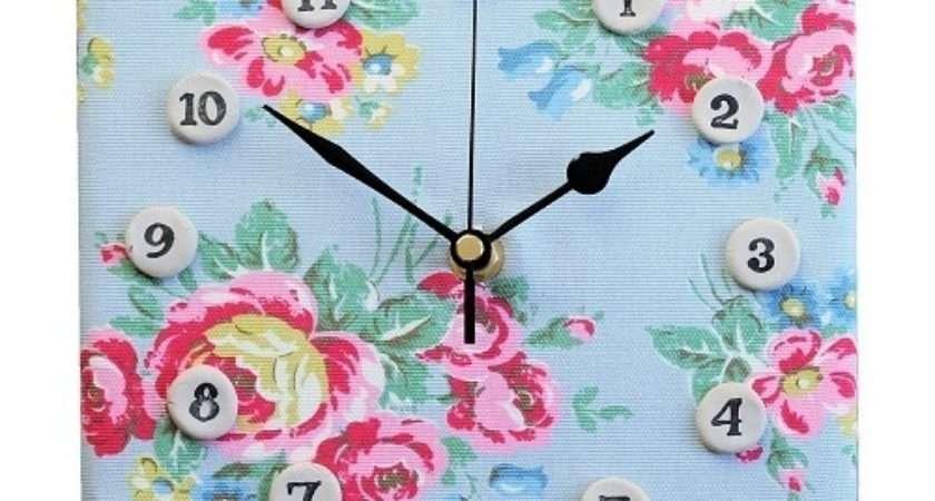 Cath Kidston Box Floral Fabric Clock Folksy