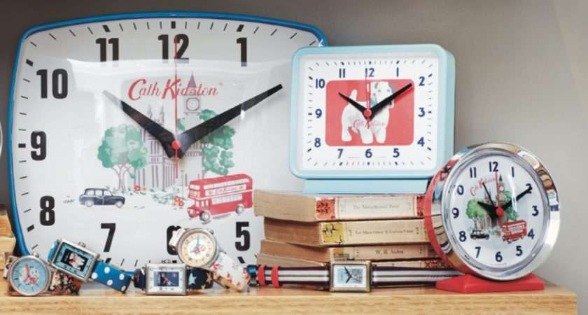 Cath Kidston Clocks Design Living Colour Style Blog
