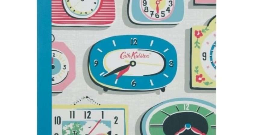 Cath Kidston Clocks Notebook Retro Clock Notepad