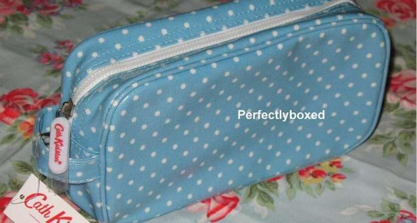 Cath Kidston Cosmetic Bag Mini Dot Blue Oilcloth