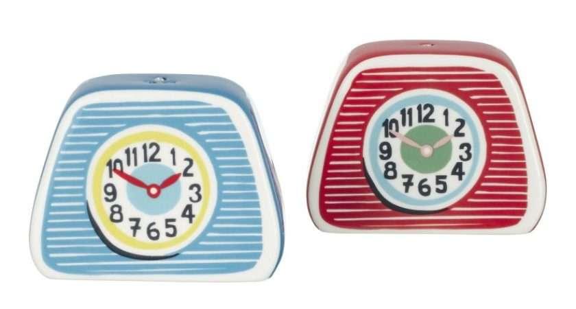 Cath Kidston Salt Pepper Shakers Clocks