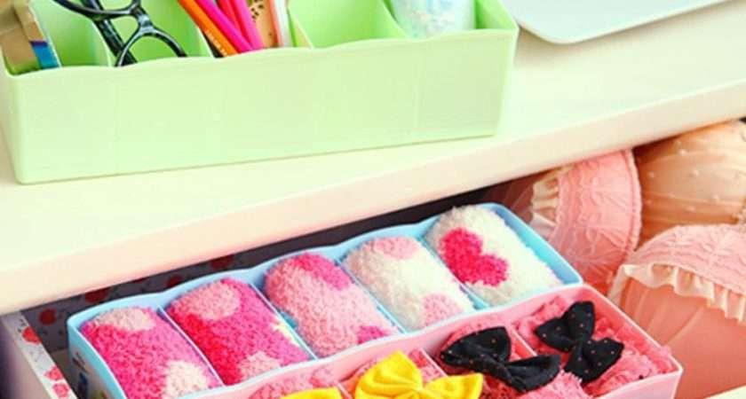 Cell Plastic Underwear Socks Bra Storage Rack Case