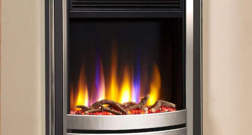 Celsi Ultiflame Designer Electric Fire Silver Black