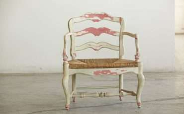 Century Proven Ale Painted Ladder Back Armchair Rush Seat
