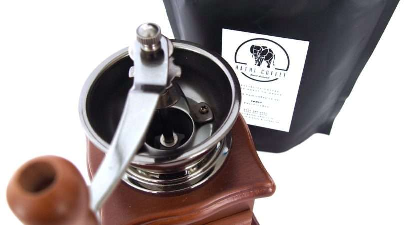 Ceramic Burr Hand Grinder Coffee Bundle Hathi Roasters