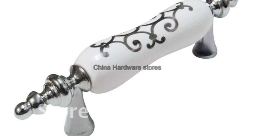 Ceramic Cabinet Porcelain Knobs Kitchen Drawer Pulls Furniture Handle