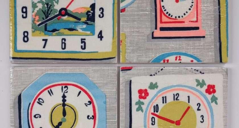 Ceramic Coasters Cath Kidston Clocks