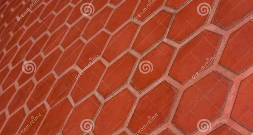 Ceramic Tile Flooring Orange Shooting Angle Obliquely