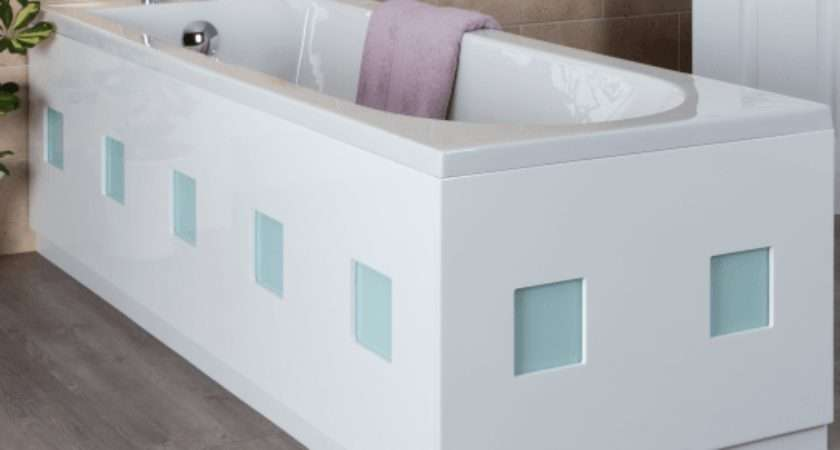 Ceramica Frosted Square Bath Panel White End