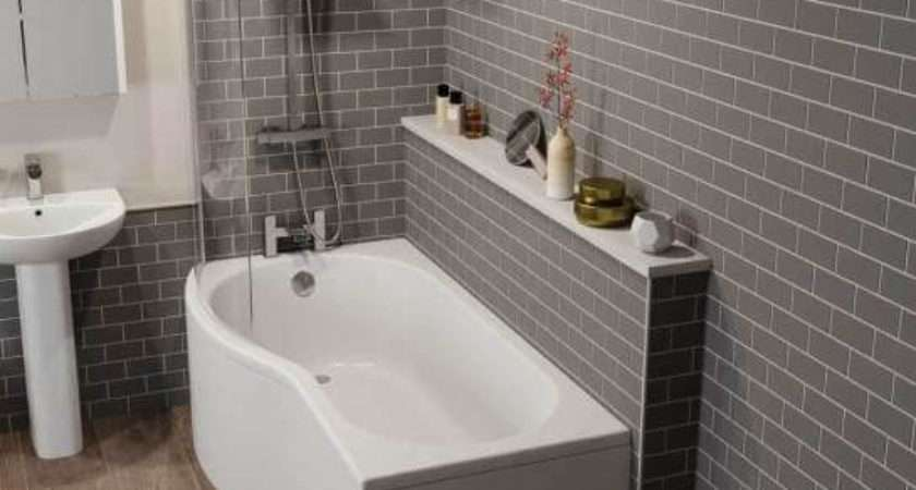 Ceramica Shaped Shower Bath Bundle Left Hand