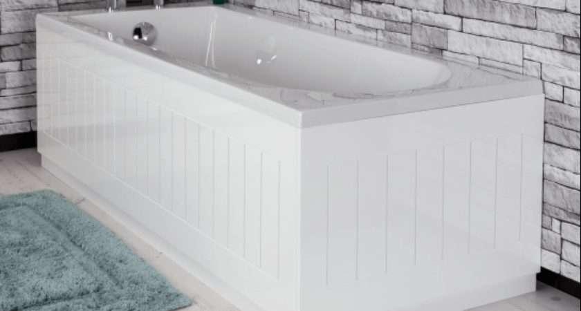 Ceramica Tongue Groove Bath Panel White Front