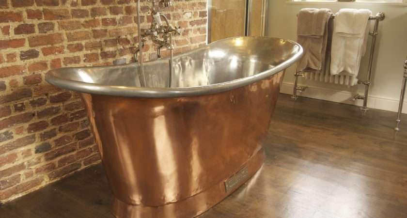 Chadder Copper Bath Nickel Fittings